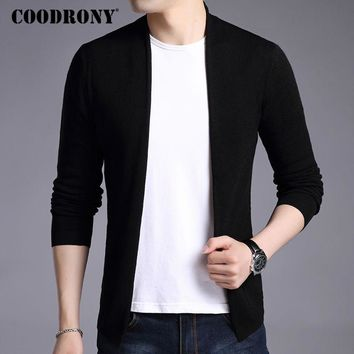 COODRONY Cardigan Men Cashmere Wool Sweater Men Brand Clothing Autumn Winter Warm Mens Knitted Sweaters Christmas Cardigans 7404