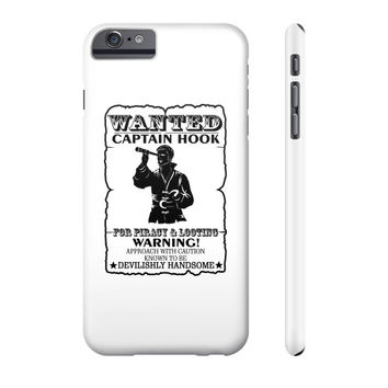 WANTED CAPTAIN HOOK Phone Case