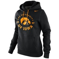 Nike Iowa Hawkeyes Ladies School Stamp Pullover Hoodie - Black
