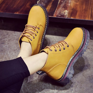 On Sale Hot Deal Dr. Martens With Heel Round-toe Korean Winter Boots [9138741319]