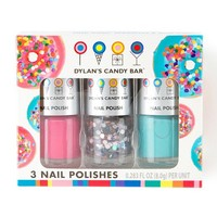 Dylan's Candy Bar Donut Nail Polish Set of 3   Claire's