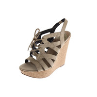 Fergalicious by Fergie Womens Beauty Faux Suede Slingback Wedges