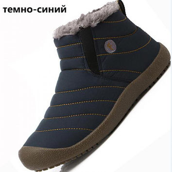 New Women Waterproof Winter Snow Boots Keep Warm Boots Plush Ankle Woman Ankle Boot Snow Work Shoes Trainers Casual Cotton