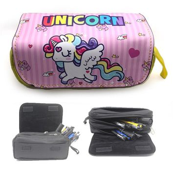unicorn pencil case High capacity kalem kutusu Kawaii material escolar pencilcase estuche escolar school trousse scolaire stylo