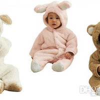 Autumn And Winter Baby Clothes Baby Clothing Coral Fleece Animal Style Clothing Romper Baby Bodysuit