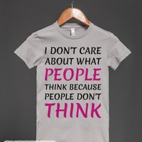 People Don't Think-Female Silver T-Shirt