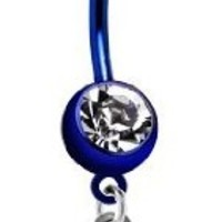 Seattle Seahawks NFL PREMIUM Blue Titanium Anodized Sexy Belly Navel Ring