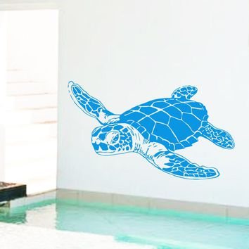 Art Design home decoration cheap Vinyl sea turtle Wall Sticker removable house decor animal tortoise decals for kids or nursery