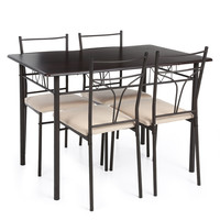 Damier Kitchen Table with 4 Chair Set