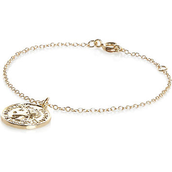 River Island Womens Gold tone coin charm bracelet