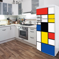 Pop Mondrian Fridge Door Decal Color Print by ADzif on Etsy