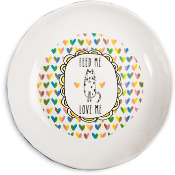 Feed me love me Kitty Shallow Feeding Bowl