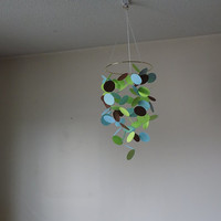 FREE US SHIPPING! Floating circles paper mobile.Nursery mobile,  Crib mobile, Baby Boy, Birthday, Wedding. Gift. Choose YourColors!