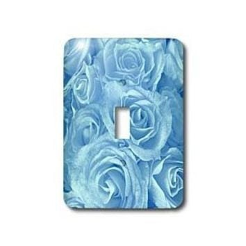 3dRose LLC lsp_29903_1 Close Up Scene of Dreamy Soft Baby Blue Roses Single Toggle Switch