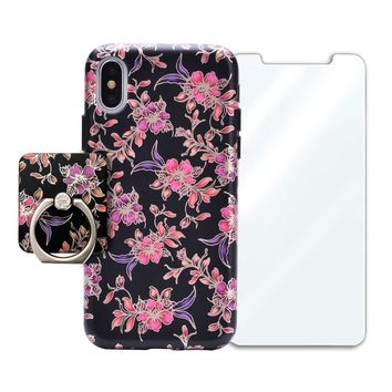 Midnight Floral Chrome Bundle Set