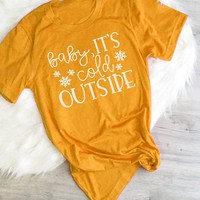 Christmas Baby it's Cold Outside t-shirt women fashion slogan unisex grunge tumblr cotton tee holiday gift girl style goth shirt