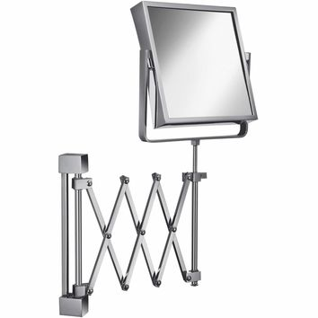Elegant Wall Double Sided Swing Extendable Makeup Magnifying Cosmetic Mirror