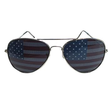 American Flag / Aviator Shades