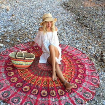Fashion Large Mandala Tapestry Hippie Hippy Wall Hanging Throw Bedspread Dorm Tapestry Decorative Wall Hanging Picnic Beach Sheet Coverlet  _ 5040