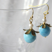 Josephine Bonaparte Blue Dangle Earrings
