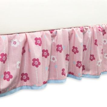 True Baby Sweet Tweet Ruffle Crib Skirt in Floral Print