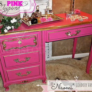 Victoria's Secret Inspired French Provincial Desk / Vanity PINK