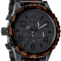 Nixon 51-30 Matte Black & Dark Tortoise Men's Chronograph Watch