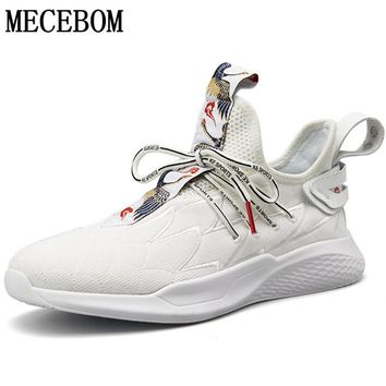 Men's New Crane Pattern Breathable Sneakers
