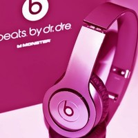 New! Metallic HOT Pink Skins for Solo / Solo Hd Beats By Dr. Dre - (Headsets Not Included)