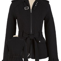 Quilted Moto Jacket with Belt - maurices.com