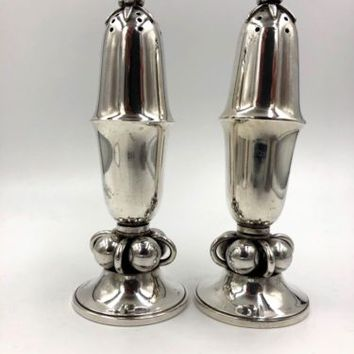 Georg Jensen Denmark Sterling Silver Salt Pepper Shakers