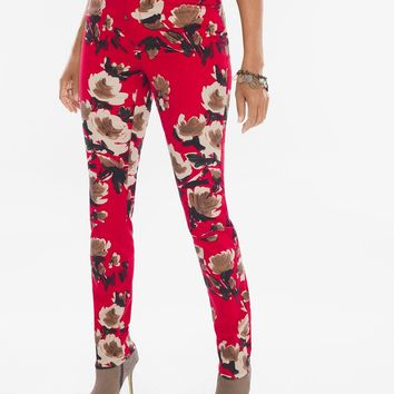 Chico's Painted Deco Floral Jeggings