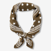 star print neckerchief