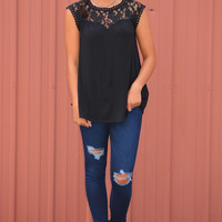 Adeline Lace Top in Black