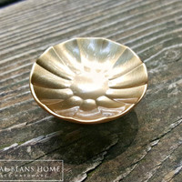 Mid Century Modern Soft Gold Fluted Knobs by MagicalBeansHome.com