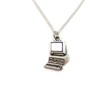 Computer Necklace Science Necklace Computer Jewelry PC Necklace Desktop Necklace Computer Science Jewelry Science Gifts