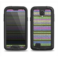 The Colorful Knit Pattern Samsung Galaxy S4 LifeProof Fre Case Skin Set