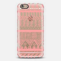 Coral Boho Aztec Transparent iPhone 6 case by Organic Saturation   Casetify