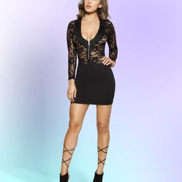 Roma 3342 Long Sleeved Lace Dress