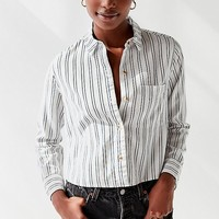 UO Lilyanna Striped Button-Down Shirt | Urban Outfitters