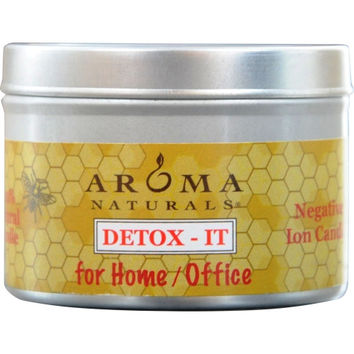 DETOX-IT AROMATHERAPY by  ONE 2.5x1.75 inch SOY/BEESWAX BLEND AROMATHERAPY CANDLE FOR HOME/OFFICE. REBALANCE ROOM ODORS WITH NATURAL BEESWAX, SUNFLOWER, SOY & RICE BRAN WAX.  BURNS APPROX. 15 HRS.