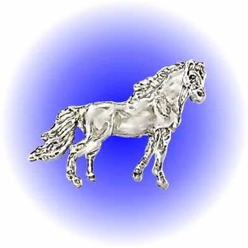 Standing Horse Pewter Figurine  Lead Free