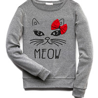 Quirky Meow Sweatshirt (Kids)