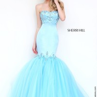 Sherri Hill 32152 Strapless Mermaid Prom Dress