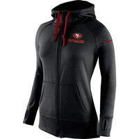 San Francisco 49ers Nike Womens Warpspeed All Time Full-Zip Hoodie - Black
