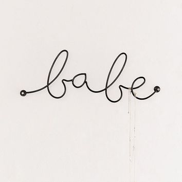 Babe Wall Hook | Urban Outfitters