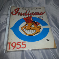 Vintage 1955 Cleveland Indians Yearbook