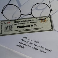 Hogwarts Express Ticket in Personalized Envelope for Stocking Stuffer, Birthday gift bags, Place Cards
