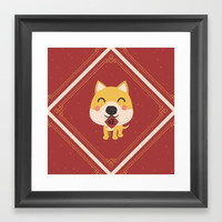 Year of the Dog Framed Art Print by lalainelim
