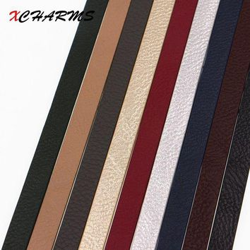 ac spbest XCHARMS 10mm Flat PU Leather Cord & Rope Diy Jewelry Findings Accessories Fashion Jewelry Making Materials